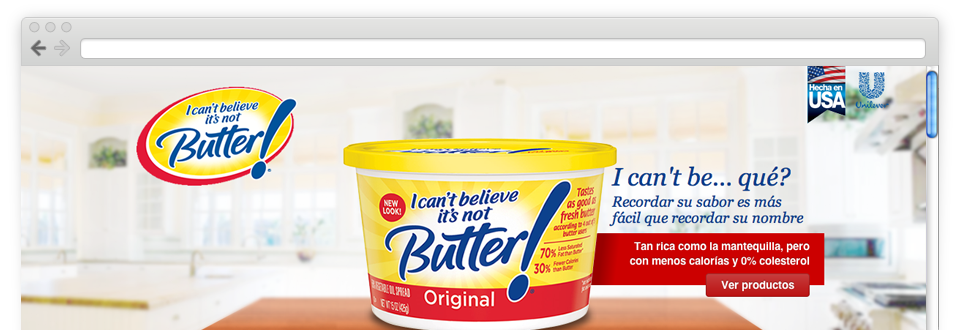 I can't believe it's not Butter! Website CL